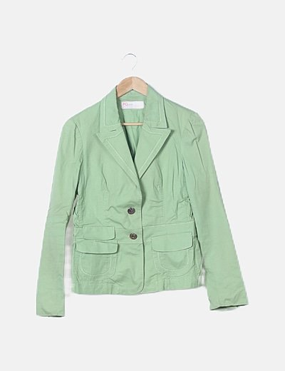 Blazer verde abotonada