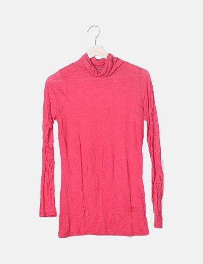 Camiseta roja jaspeada