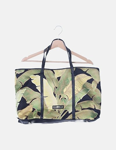 Bolso shopper print tropical