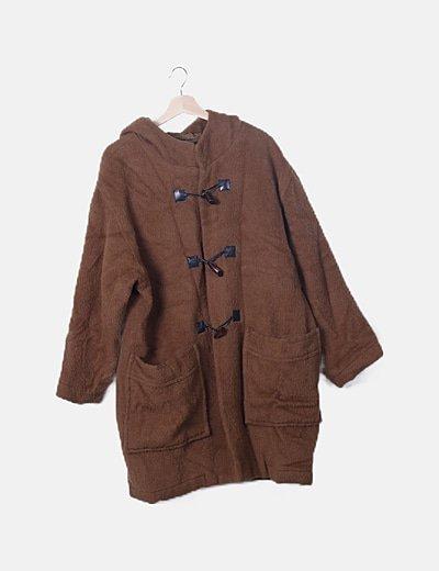 Abrigo largo pelo marrón