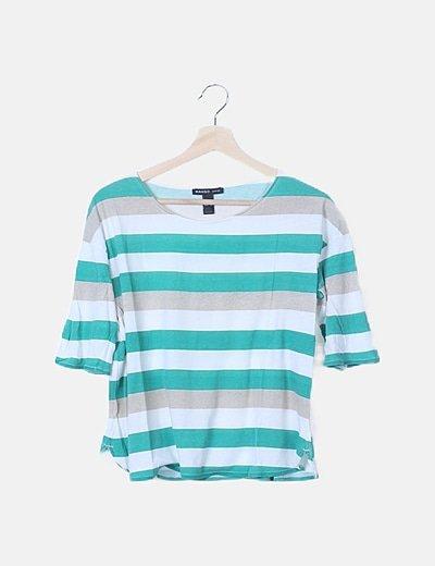 Camiseta franjas tricolor