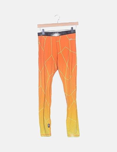 Legging naranja estampado