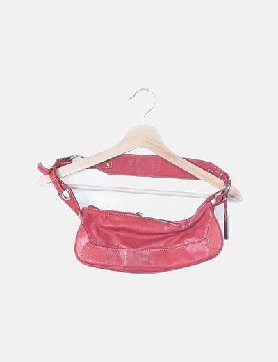 Bolso pochette piel rosa