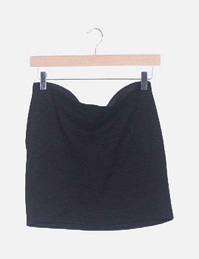 Falda mini negra de tubo