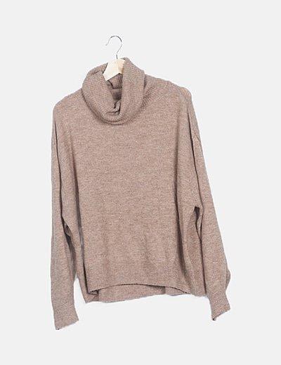 Jersey marrón manga larga
