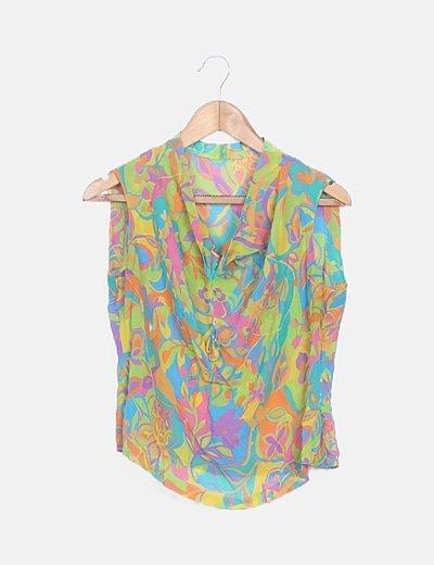 Traje dos piezas print floral multicolor