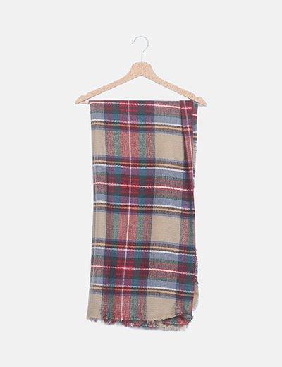 Bufanda multicolor cuadros escoceses