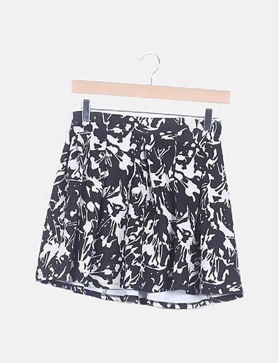 Falda mini estampado