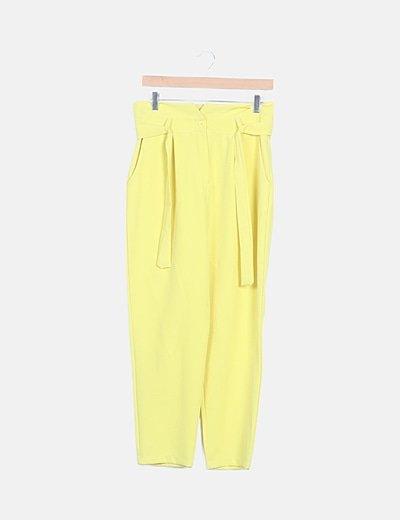Pantalón baggy amarillo