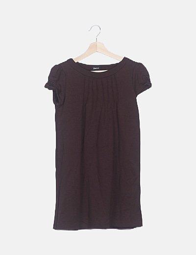 Vestido elástico marrón