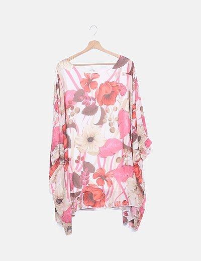 Blusa gasa floral