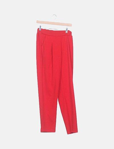 Pantalón baggy rojo