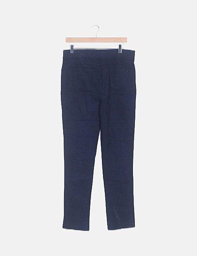 Pantalón elástico azul marino