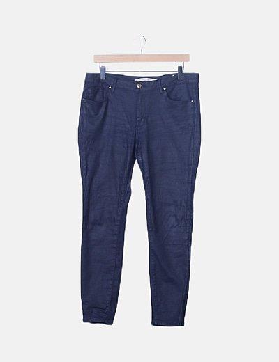 Pantalón azul marino encerado