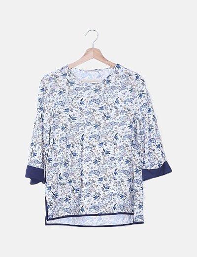 Camiseta multicolor print floral