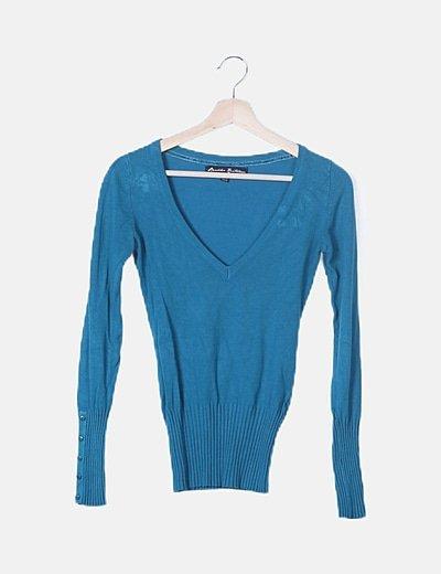 Jersey turquesa tricot