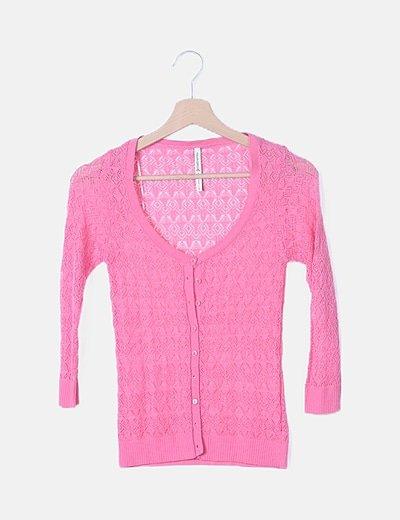Chaqueta rosa tricot