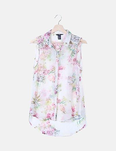 Blusa blanca floral