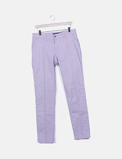 Pantalón rosa estampado