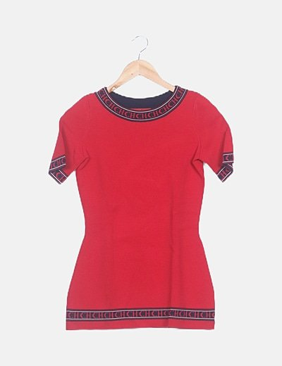 Conjunto camiseta y pantalón palazzo rojo