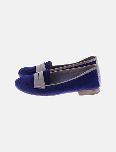 Bailarina azul marino combinada