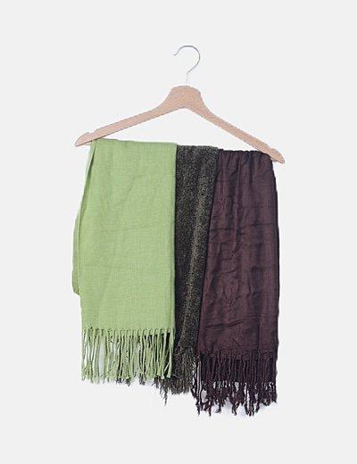 Pack 3 foulard multicolor
