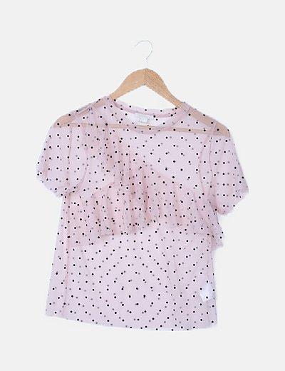 Camiseta plumeti rosa con volante