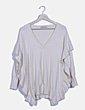 Jersey tricot beige volante Zara