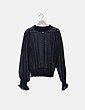 Jersey negro semitransparente detalle mangas H&M