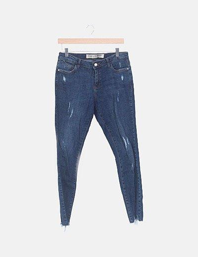 Jeans elástico pitillo ripped