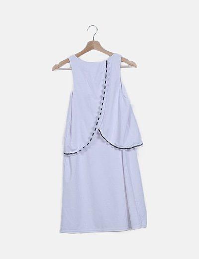 Vestido blanco combinado
