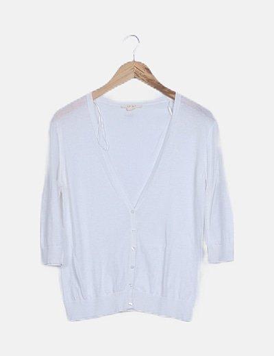 Chaqueta tricot blanca