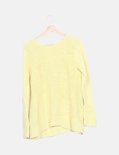 Jersey amarillo oversize escote espalda