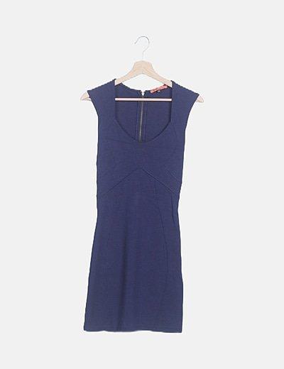 Vestido ceñido azul marino