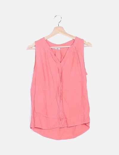Blusa rosa tail hem