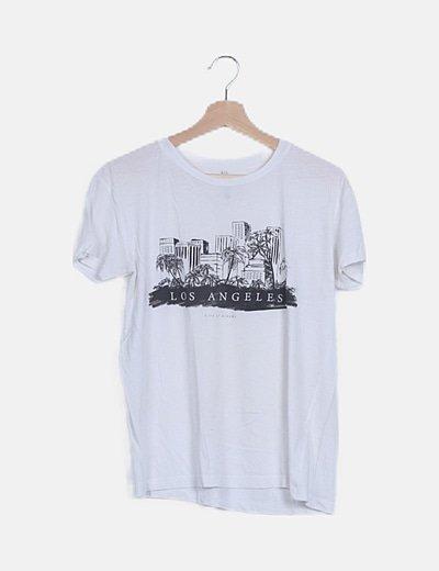 Camiseta básica print Los Ángeles