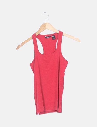Camiseta roja nadadora