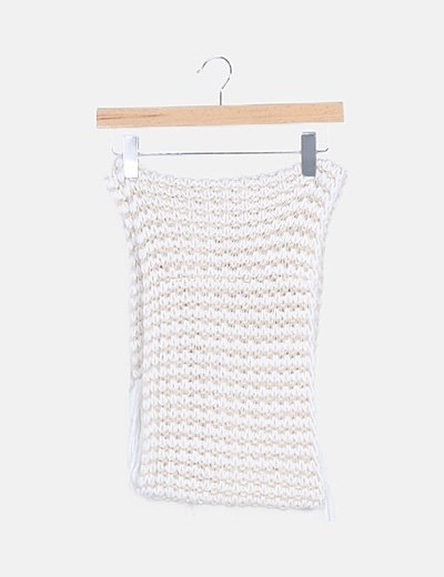 Bufanda blanca jaspeado beige