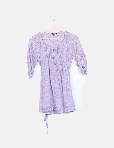 Blusa lila estampada
