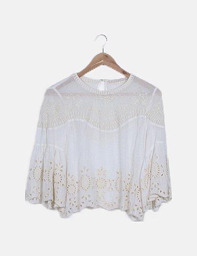 Camiseta blanca guipur
