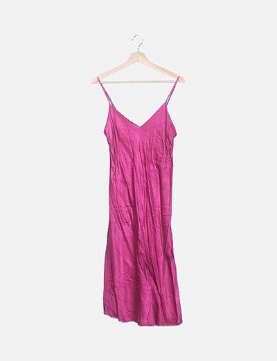 Vestido lencero rosa fucsia