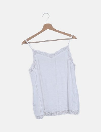 Camiseta blanca lencera