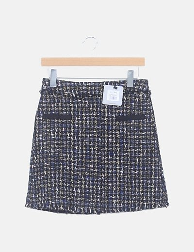 Minifalda tweed multicolor