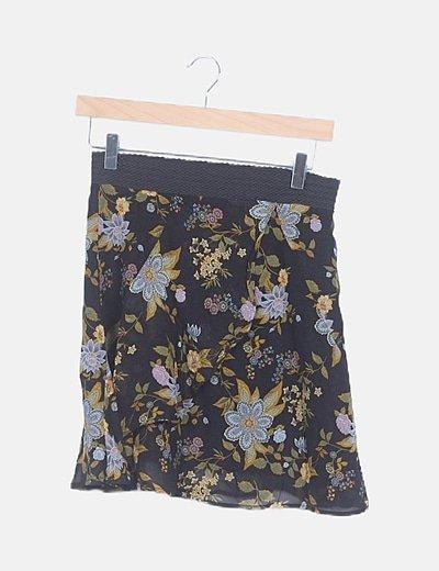 Minifalda estampada fluida