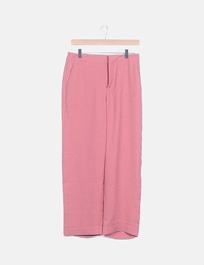 Pantalón rosa fluido