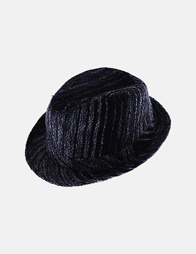 Sombrero gris jaspeado