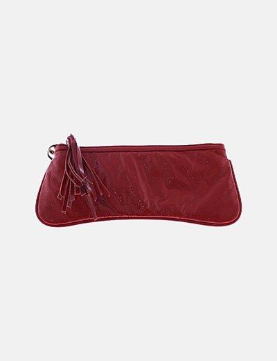 Bolso de mano rojo satén
