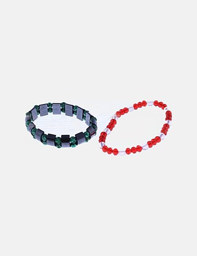Pack pulseras abalorios