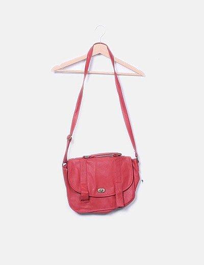 Bolso satchel rojo