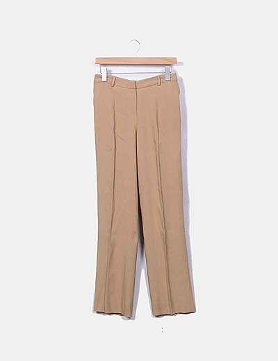 Pantalón chino fluido camel